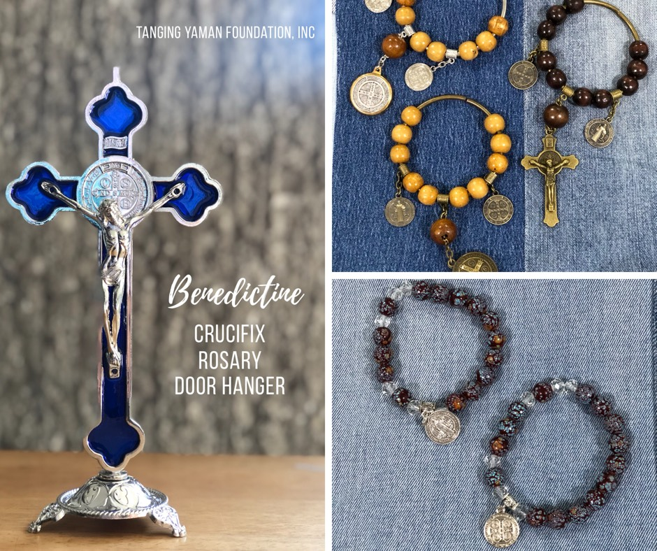 Benedictine Cross Bracelet