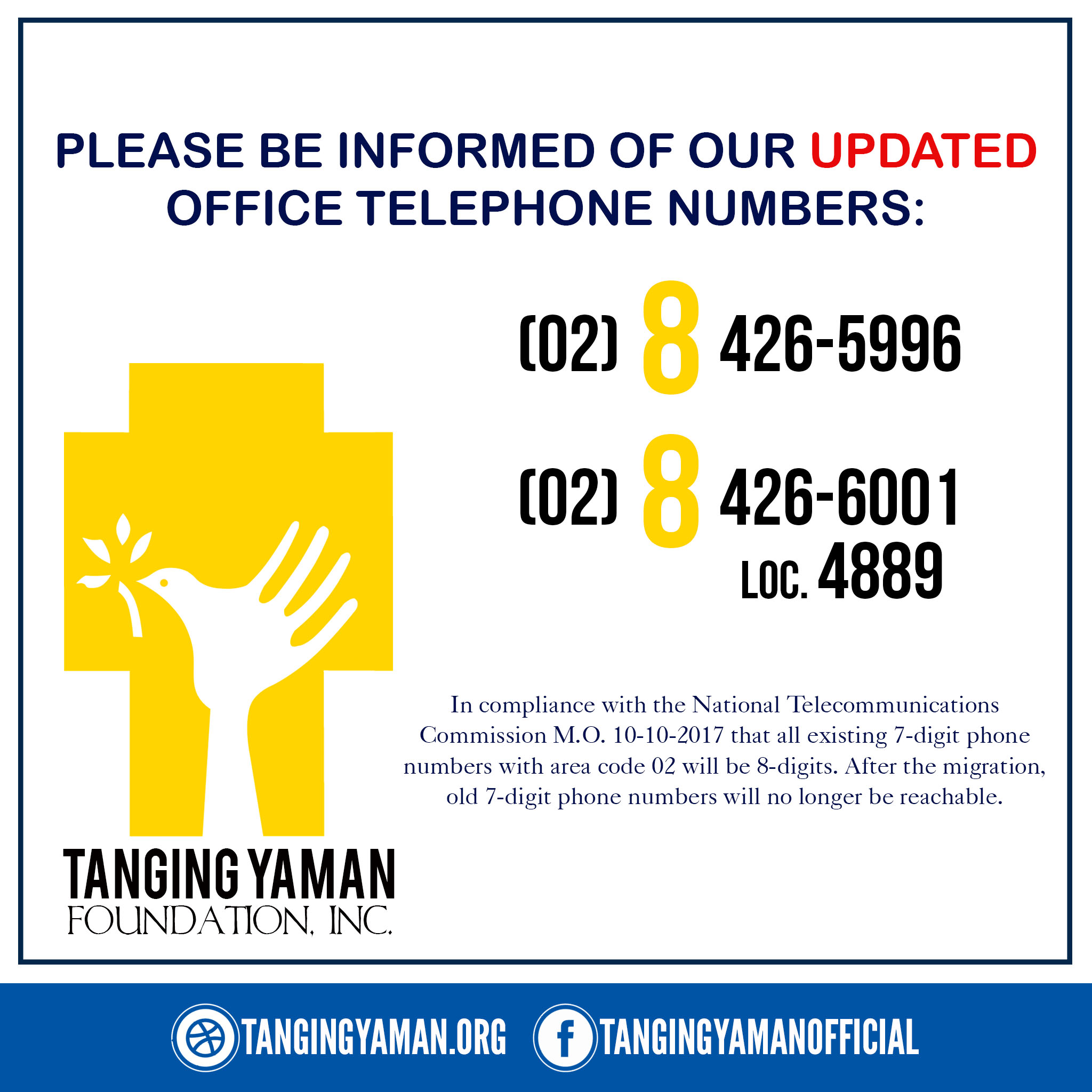 TYF Updated Phone Numbers